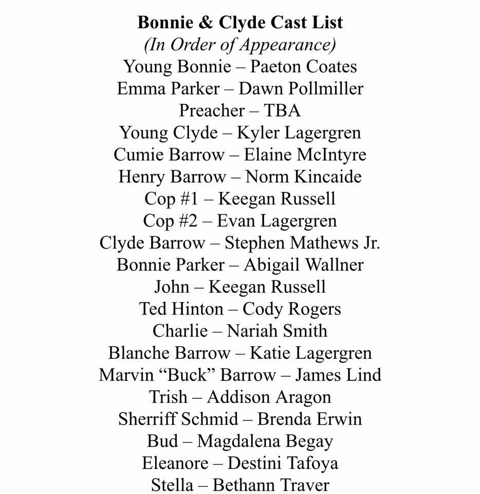 Cast List ONE